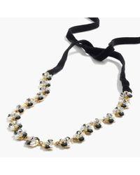J.Crew - Metallic Sequin Daisy Necklace - Lyst