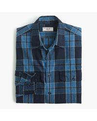 J.Crew | Blue Wallace & Barnes Heathered Japanese Indigo Railworker Shirt for Men | Lyst