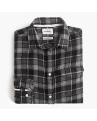 J.Crew Gray Norse Projects Lightweight Flannel Shirt for men