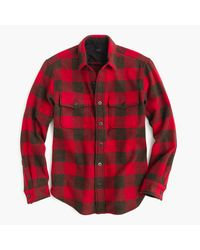 J.Crew Red Slim Buffalo Check Cpo Shirt-jacket for men
