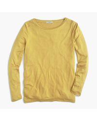 J.Crew Yellow Drapey Long-sleeve T-shirt