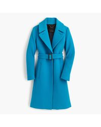 J.Crew | Blue Double-cloth Belted Trench Coat | Lyst