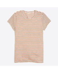 J.Crew - Pink Metallic Striped Studio T-shirt - Lyst