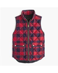J.Crew | Red Excursion Buffalo Check Vest | Lyst