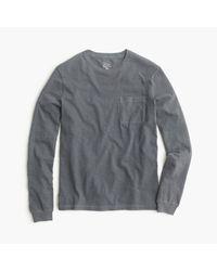 J.Crew Gray Long-sleeve Garment-dyed T-shirt for men