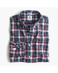 J.Crew Slim Thomas Mason Archive Washed Shirt In Blue Tartan for men