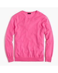 J.Crew   Pink Italian Cashmere Boyfriend Crewneck Sweater for Men   Lyst