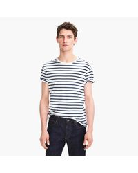 J.Crew White Essential T-shirt In Deck Stripe for men
