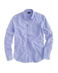 J.Crew Blue Secret Wash Shirt In End-on-end Cotton for men