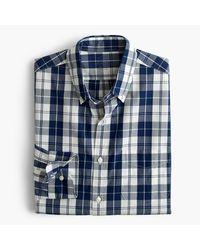 J.Crew | Blue Secret Wash Shirt In Indigo Plaid for Men | Lyst