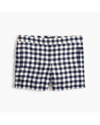 J.Crew Blue Gingham Cotton Short