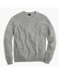 J.Crew | Gray Slim Italian Cashmere Crewneck Sweater for Men | Lyst