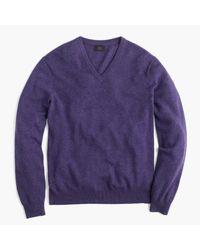 J.Crew | Purple Slim Italian Cashmere V-neck Sweater for Men | Lyst