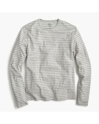 J.Crew | Gray Nautical-striped Long-sleeve T-shirt In Heathered Cotton for Men | Lyst