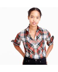 J.Crew Multicolor Festive Plaid Button-up Shirt