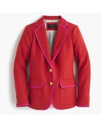 J.Crew | Red Rhodes Blazer In Tipped Italian Wool | Lyst