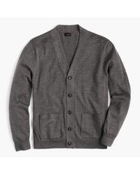 J.Crew - Gray Italian Merino Wool Cardigan Sweater for Men - Lyst