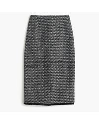 J.Crew | Gray Pencil Skirt In Fringy Tweed | Lyst