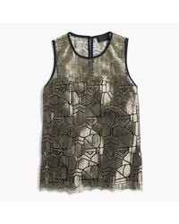 J.Crew | Multicolor Collection Deco Shirt In Metallic French Lace | Lyst