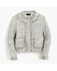 J.Crew | Petite Lady Jacket In Metallic Tweed | Lyst
