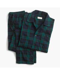 J.Crew | Blue Twill Pajama Set In Black Watch for Men | Lyst