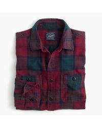 J.Crew | Multicolor Midweight Flannel Shirt In Cabernet Plaid for Men | Lyst