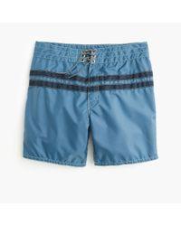 J.Crew - Blue Birdwell Board Short In Stripe for Men - Lyst