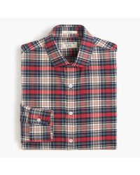 J.Crew Albiate 1830 Ludlow Shirt In Red Plaid for men
