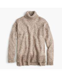 J.Crew | Brown Marled Italian Wool Blend Turtleneck Sweater | Lyst