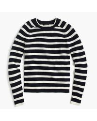 J.Crew | Blue Striped Holly Sweater | Lyst