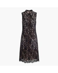 J.Crew | Black Petite Lace Dress With Pockets | Lyst