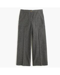 J.Crew | Gray Wide-leg Wool Pant In Houndstooth | Lyst