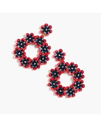 J.Crew - Multicolor Bead And Sequin Drop-hoop Earrings - Lyst
