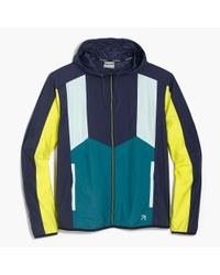J.Crew - Blue New Balance Colorblock Windbreaker Jacket for Men - Lyst