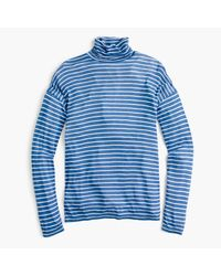 J.Crew | Blue 10 Percent Deck Turtleneck In Stripe | Lyst