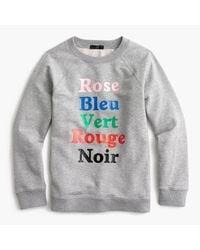 J.Crew | Gray French Colors Sweatshirt | Lyst