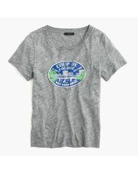 J.Crew - Gray French Travel Logo T-shirt for Men - Lyst