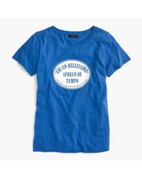 J.Crew - Blue Italian Travel Logo T-shirt - Lyst
