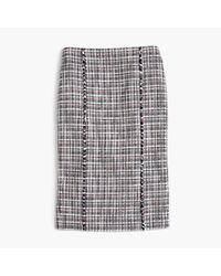 J.Crew | Blue Tall Pencil Skirt In Lightweight Tweed | Lyst