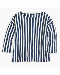 J.Crew - Blue Vertical Stripe T-shirt - Lyst