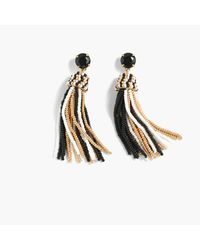 J.Crew - Metallic Fun Tassel Earrings - Lyst