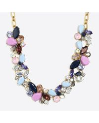 J.Crew - Blue Mixed Stones Necklace - Lyst