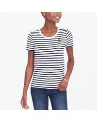 J.Crew - Blue Pineapple Stripe Collector T-shirt - Lyst