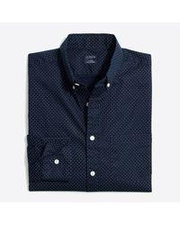 J.Crew Blue Printed Slim Flex Casual Shirt for men