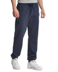 Lacoste Blue Cuffed Fleece Track Pants for men