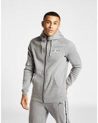 fba9aee8d25125 Nike Jumpman Full Zip Hoodie in Gray for Men - Lyst
