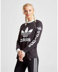 fd93209695d1 Lyst - adidas Originals Linear Long Sleeve T-shirt in Black