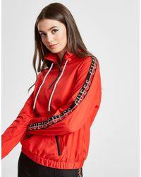 Veste Coupe Vent Tape Femme Guess en coloris Red