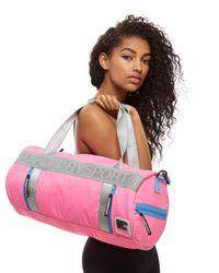 Superdry - Pink Sport Barrel Bag for Men - Lyst