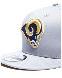 KTZ - Gray 9fifty Nfl Los Angeles Rams Snapback Cap for Men - Lyst